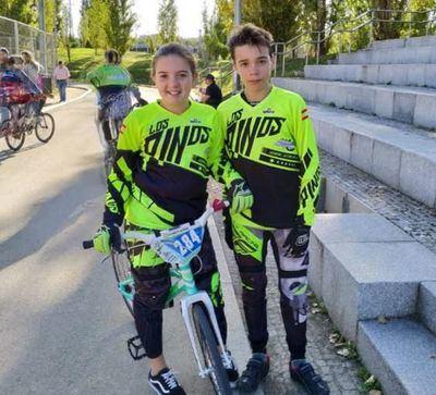 Zaira Vargas y Fernando García, del Club BMX Los Pinos, siguen imparables