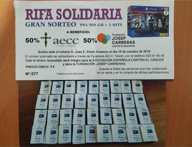 La rifa solidaria de Pilar García recauda 4.500 euros para la AECC y la Fundación Josep Carreras
