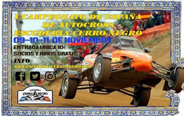 Talavera consigue la homologación nacional del circuito de autocross del Cerro Negro