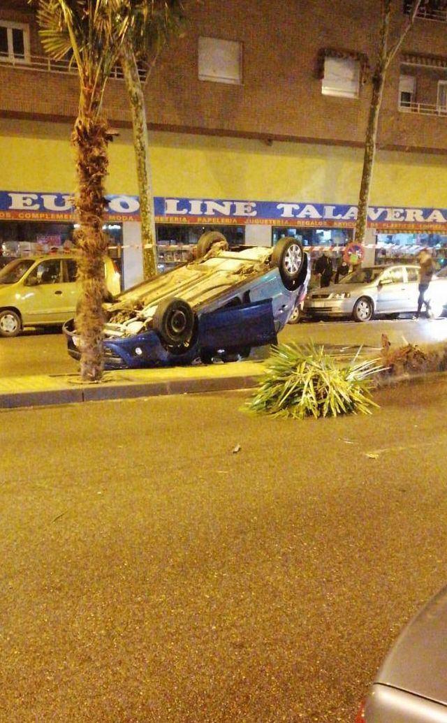 Espectacular accidente en Francisco Aguirre