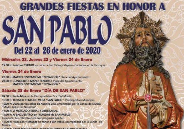 PROGRAMACIÓN | Comienzan las fiestas de San Pablo en Navalcán
