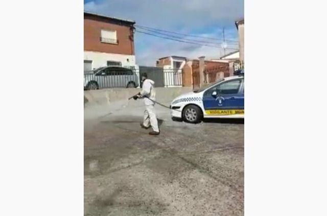 VÍDEO   Velada prosigue con la desinfección de las calles