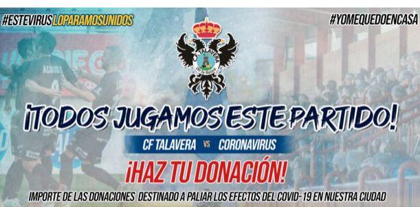 COVID-19 | El CF Talavera recauda fondos contra el coronavirus