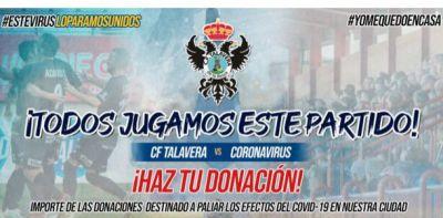 COVID-19   El CF Talavera recauda fondos contra el coronavirus