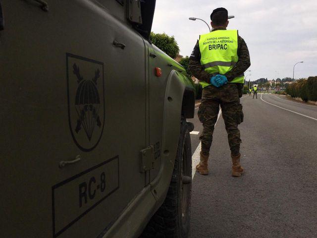 ESTADO DE ALARMA   Militares en Talavera, Velada y Calzada de Oropesa