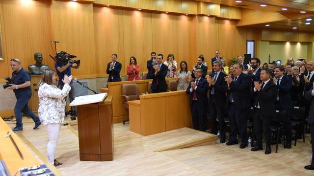 Tita García transmite un mensaje de 'optimismo e ilusión' tras convertirse en alcaldesa de Talavera