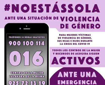 TALAVERA | #NoEstasSola, la campaña para ayudar a las víctimas de violencia de género