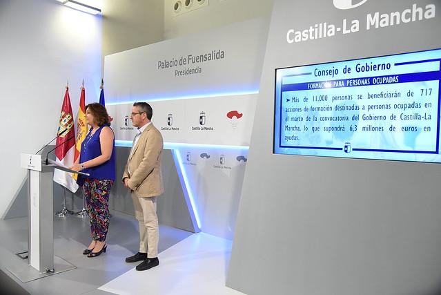 Más de 11.000 personas ocupadas se beneficiarán de acciones formativas impulsada por CLM