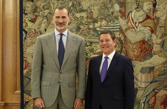 Page traslada al rey Felipe VI los principales retos y proyectos de Castilla-La Mancha