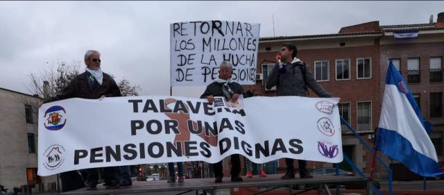 ESTE VIERNES   Nueva concentración en Talavera por unas pensiones dignas