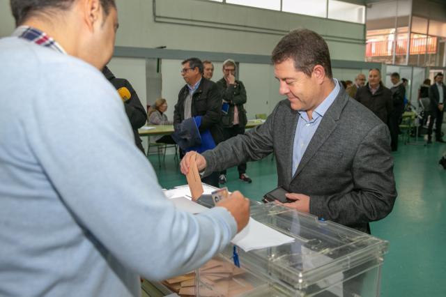 García-Page vota en Toledo