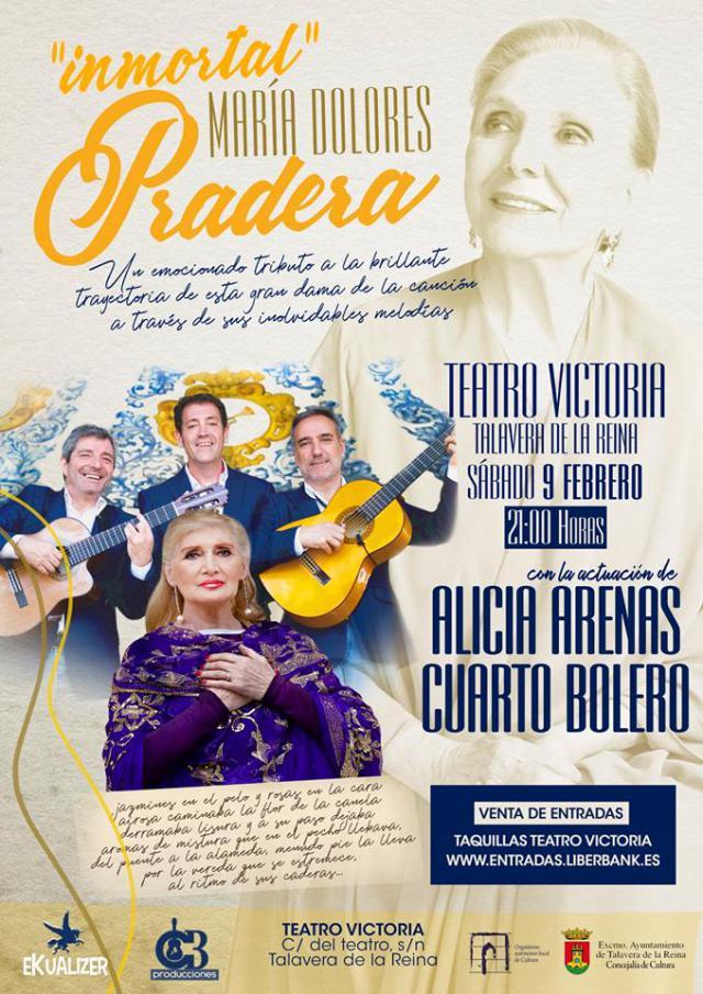 'Inmortal Mª Dolores Pradera', el homenaje de Cuarto Bolero y Alicia Arenas en el Teatro Victoria