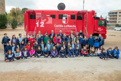 Escolares del 'San Juan Bautista' de Talavera conocen los beneficios del 112