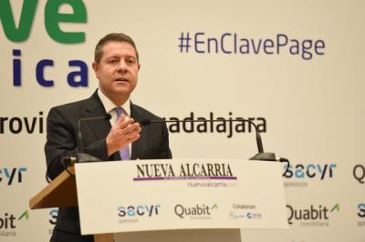 García-Page durante su intervención.
