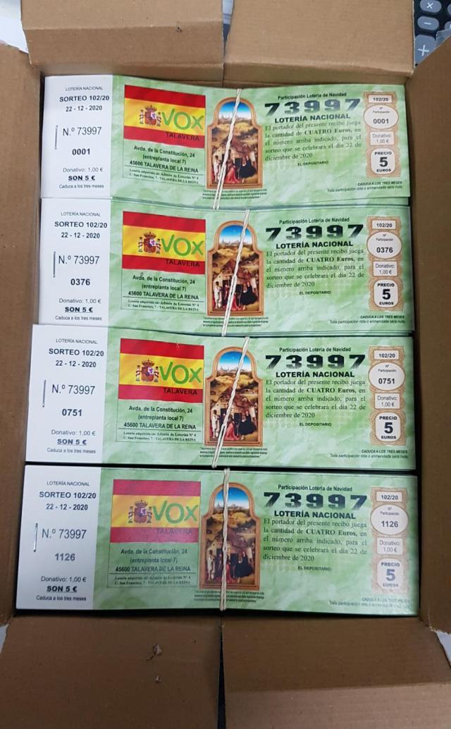 TALAVERA | Vox reparte más de 80.000 euros de la Lotería de Navidad
