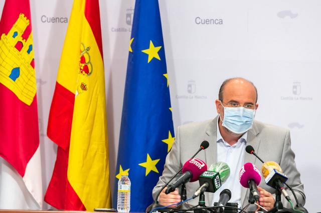 El vicepresidente de Castilla-La Mancha, José Luis Martínez Guijarro, en rueda de prensa. - JCCM