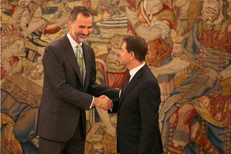Rey Felipe y García-Page en una imagen de archivo | Europa Press
