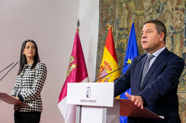 Encuentro de Emiliano García-Page e Inés Arrimadas