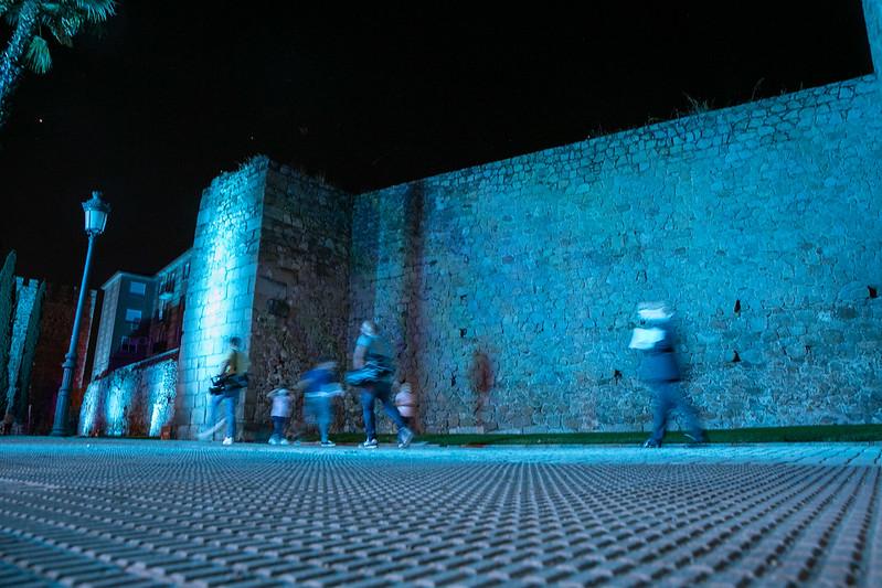 La muralla de Talavera estrena iluminación artística