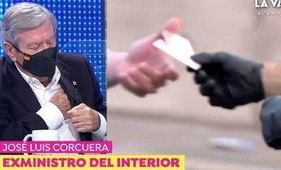 VÍDEO | El susto del exministro Corcuera en 'Espejo Público':