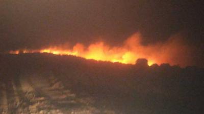 Incendio en Poyales