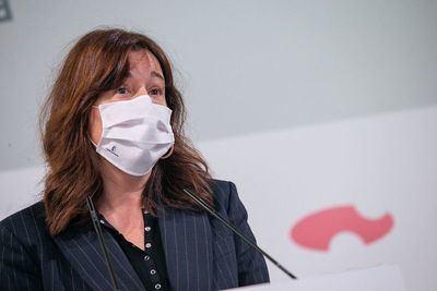 La consejera de Igualdad y portavoz del Gobierno de CLM, Blanca Fernández, en rueda de prensa - JCCM