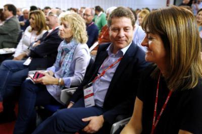 El presidente de CLM durante el Comité Federal del PSOE.
