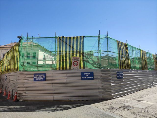Obras del nuevo Mercadona | Foto: D.M.M. La Voz del Tajo