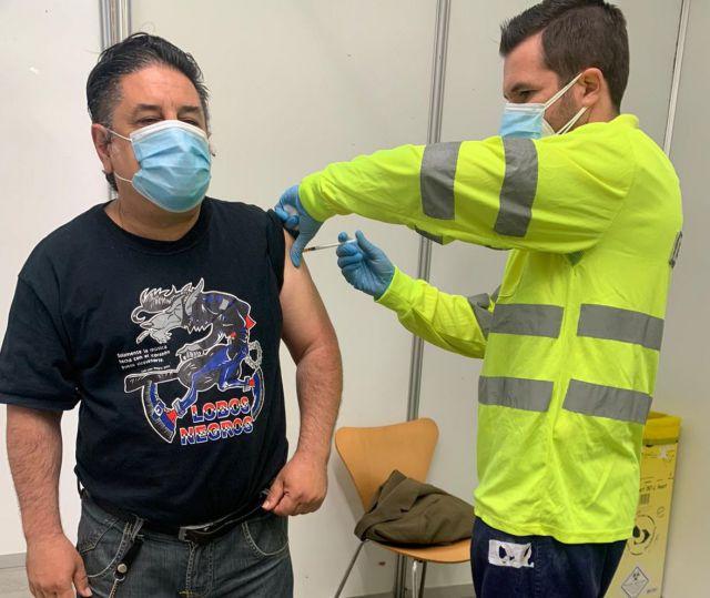 Luis Martín 'Lobo Negro', genio y figura hasta en la vacunación