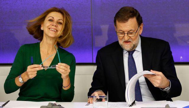 Cospedal y Rajoy en una foto de archivo