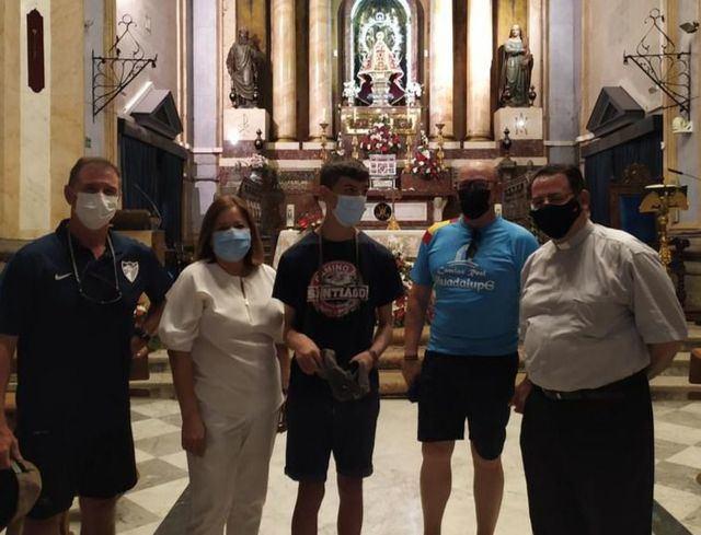 Álvaro inicia desde la Basílica de Talavera el Camino Real de Guadalupe