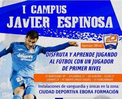 Javier Espinosa y Ebora Formación, unidos en el I Campus del jugador talaverano