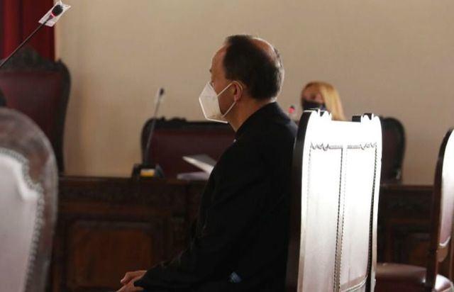 El sacerdote declara en la Audiencia Provincial de Toledo, este martes.ISABEL INFANTES   EUROPA PRESS