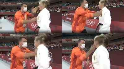 La sorprendente técnica de ánimo que recibió la judoka alemana Martyna Trajdos