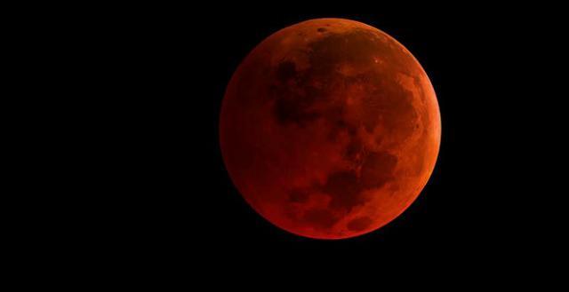 Eclipse lunar total y 'superluna' sangre de lobo, a finales de enero