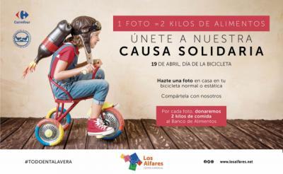 TALAVERA | 1 foto = 2 kilos de alimentos, la iniciativa solidaria de Los Alfares