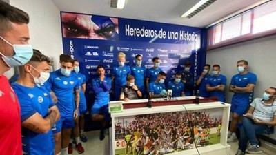 El Extremadura estará en Talavera pese a la amenaza de sus jugadores de ponerse en huelga