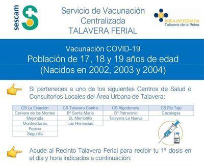 Vacuna, sin cita previa, este miércoles y jueves para jóvenes de 17 a 19 años
