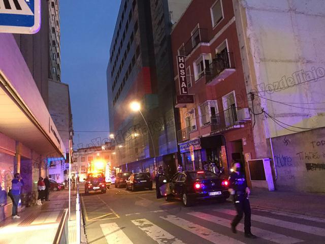 FOTOS | Incendio en un hostal en el centro de Talavera