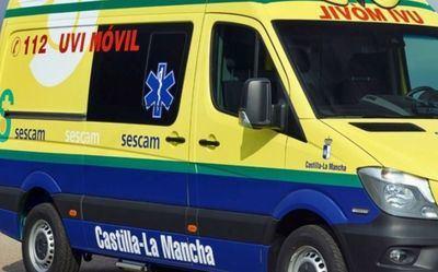 Trasladan al hospital a un hombre de 42 años tras la colisión entre dos camiones