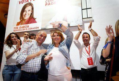"""Tita García, orgullosa de recuperar la ciudad, """"no para el PSOE sino para los ciudadanos'"""
