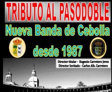 Tributo al pasodoble en la Plaza del Ayuntamiento de Cebolla