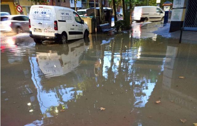 Inundaciones en casas por las fuertes tormentas en Talavera (VIDEO)