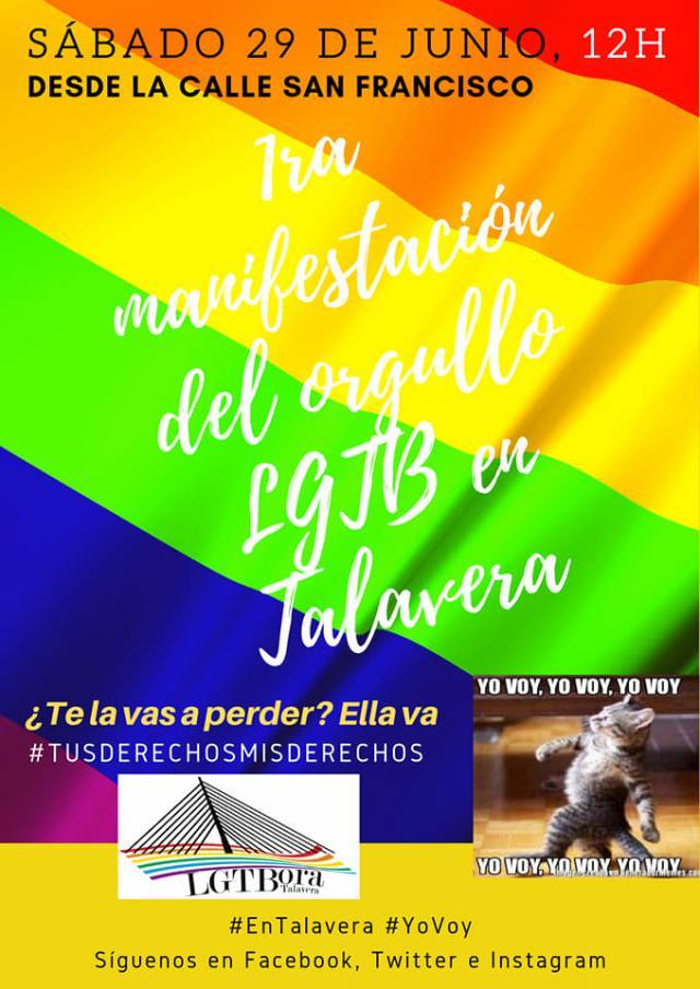 Primera manifestación del Orgullo LGTB en Talavera