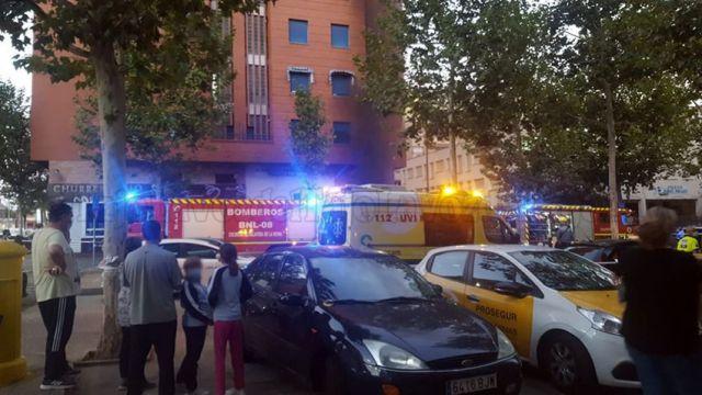 Alarma en Talavera por el incendio en un garaje