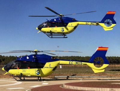 Trasladan en helicóptero hasta el hospital a un trabajador herido