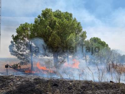 Incendio en el Camino Viejo de Talavera