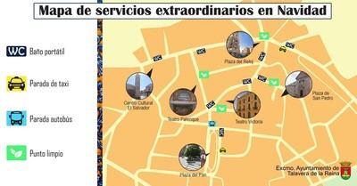 Cortes de tráfico y prohibición de aparcar en zonas del centro de Talavera por Navidad