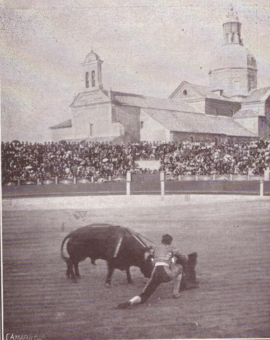 Joselito en la corrida de Talavera de la Reina donde se produjo la cogida mortal