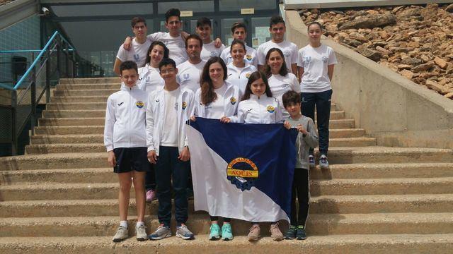 El CN Aqüis sigue peleando en puestos de podio en la liga regional